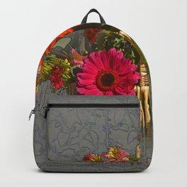 Flower Basket Still Life Backpack