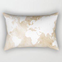 Design 82 world map sepia Rectangular Pillow