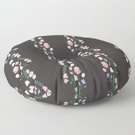 I Love Pink Flowers Floor Pillow