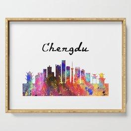 Chengdu Quote Art Design Inspirational Motivation Serving Tray