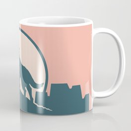 Howling at the Moon Landscape 233 Beige Green and Dusty Rose Coffee Mug