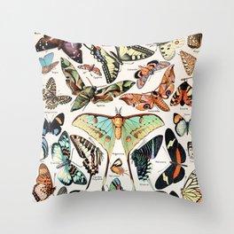 Adolphe Millot - Papillons pour tous - French vintage poster Throw Pillow