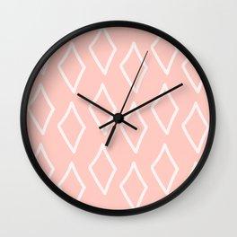 Pink-a-licious Grovey Diamonds Wall Clock