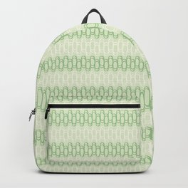 Green and yellow waves Backpack