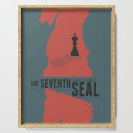 The Seventh Seal, Ingmar Bergman movie poster, swedish film, Max von Sydow Serving Tray