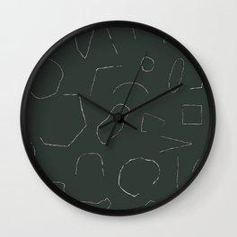 Skinny Shapes Kale Wall Clock