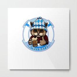 Oberbayer - Bavaria Fun Shirt zum Wohl mitnand Cat Metal Print