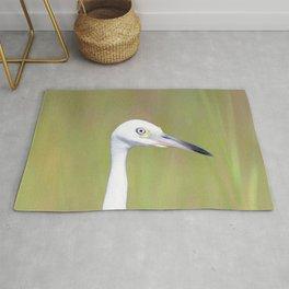 Watercolor Bird, Little Blue Heron 08, Janes Island, Maryland Rug