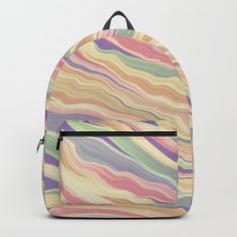 Retro Marbled Print  Backpack
