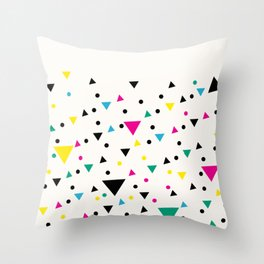 Oakland 1993 - Memphis Throwback Bright Retro 1990s 80s Trendy Hipster Pattern Eighties Throw Pillow