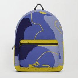 yellow mod girl Backpack