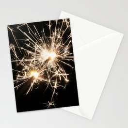 Sparklers on New Year's Eve Stationery Cards