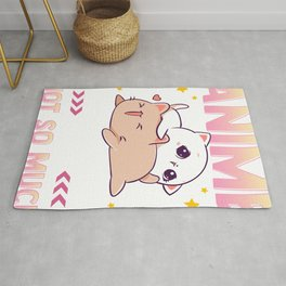 Anime Makes Me Happy You Not So Much Cute Animals Rug
