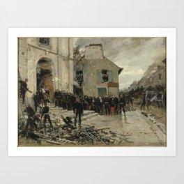 Alphonse de Neuville - Le Bourget Art Print