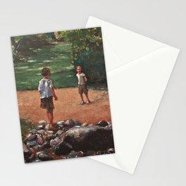 Rencontre au parc Stationery Cards