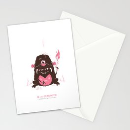 Q is for Quaggoth Stationery Cards