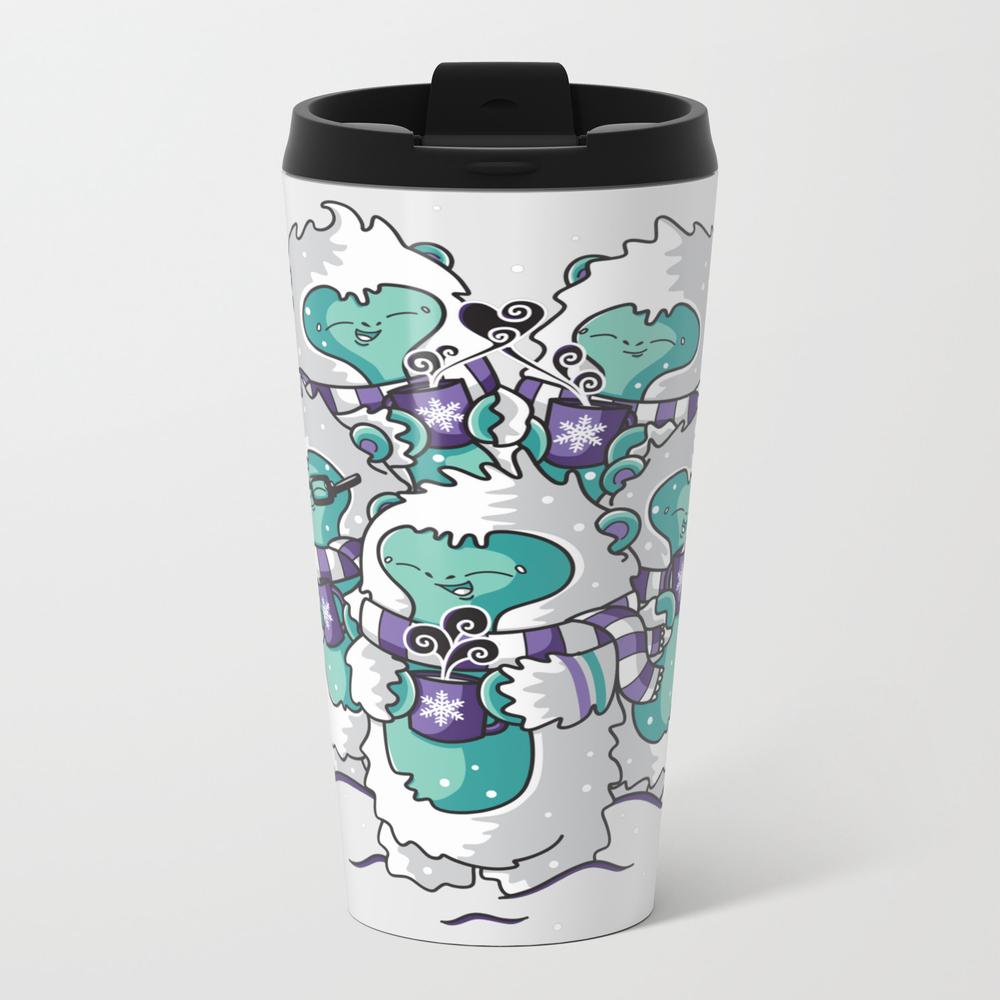 Yetis Loves Hot Cocoa Metal Travel Mug by Lythuthuye MTM7689846