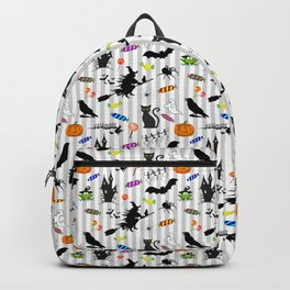 Halloween Fun - Silver Stripes Backpack