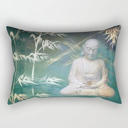 Buddha's awakening from deep meditation Rectangular Pillow