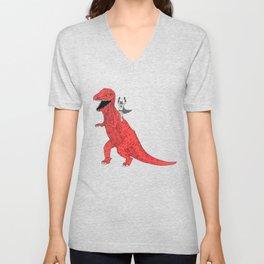 Dinosaur B Forever Unisex V-Neck