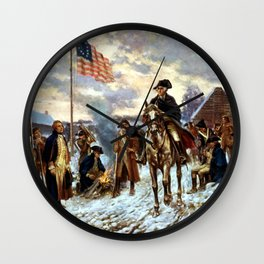 Washington At Valley Forge Wall Clock