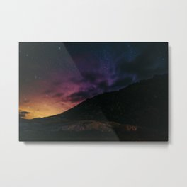 Night sky #stars #mountains Metal Print