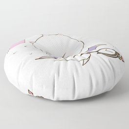 Struggling Mog Floor Pillow