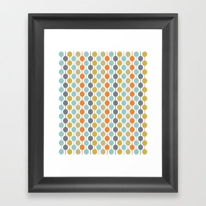 Retro Circles Mid Century Modern Background Gerahmter Kunstdruck