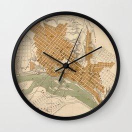 Vintage Map of Richmond VA (1864) Wall Clock