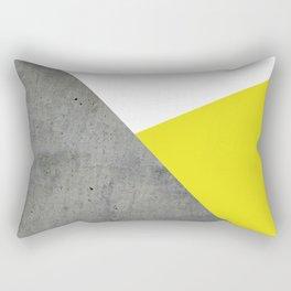 Concrete vs Corn Yellow Rectangular Pillow