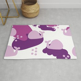 pink whales Rug