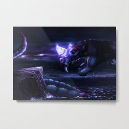 Glowing Water Dragon Metal Print
