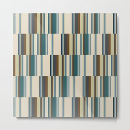 vertical broken stripe-teal Metal Print