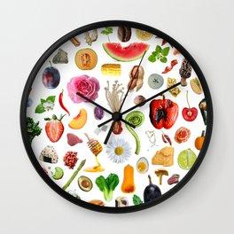 Food Doodles Wall Clock