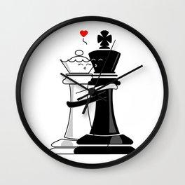 Chess love #4 Wall Clock