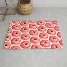 Strawberry Donut Pattern Rug