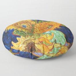 Van Gogh, Five Sunflowers 1888 Artwork Reproduction, Posters, Tshirts, Prints, Bags, Men, Women, Kid Floor Pillow