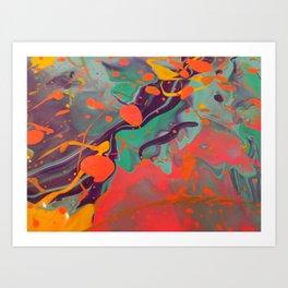 Triptonite - Abstract Acrylic Painting Art Print