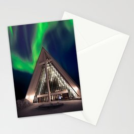 Northern Light Above Arctic Cathedral Stationery Cards