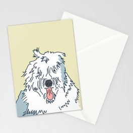 Scampy the Old English Sheep Dog Stationery Cards