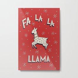 Fa La La Llama Metal Print