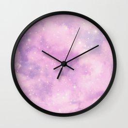 Pastel Cloulds Sky Seamless Nebula 316 Wall Clock