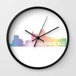 Raleigh Skyline Wall Clock