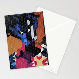 Geometric Nightcrawler Stationery Cards