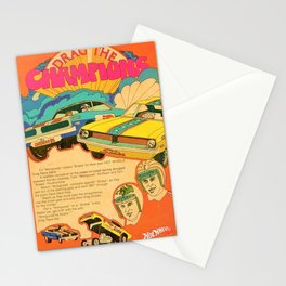 Vintage Hot Wheels Snake and Mongoose MOPAR Poster Stationery Cards
