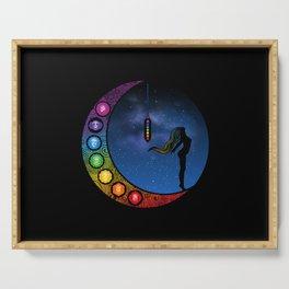 Crescent Moon Chakra - Nightscape Serving Tray