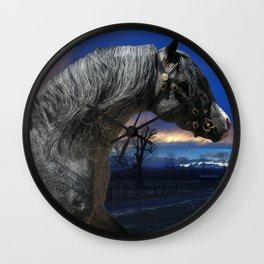 Welsh Pony Stallion Wall Clock