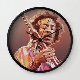 Jimi Hendrix Guitar God Wall Clock