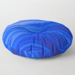 Flow Strand. Endless Blue. Abstract Art Floor Pillow