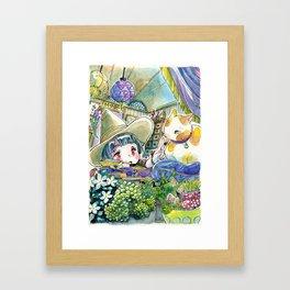Witch apprentice Framed Art Print